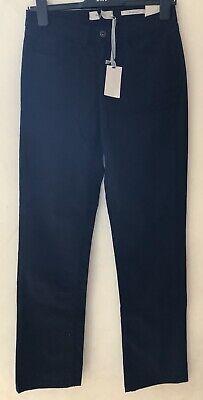 """Ladies John Lewis Gamba Dritta Nero Jeans 5 Tasche Zip Uk 8 30""""l-mostra Il Titolo Originale"""