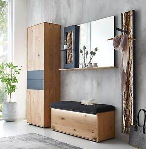 garderobe hartmann runa v 104 kerneiche natur massiv geb rstet beleuchtung neu ebay. Black Bedroom Furniture Sets. Home Design Ideas