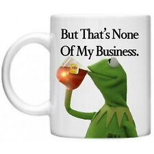 b08b044a1aa80 Kermit None of My Business Strapback Hat Frog Sipping Tea Emoji Meme ...