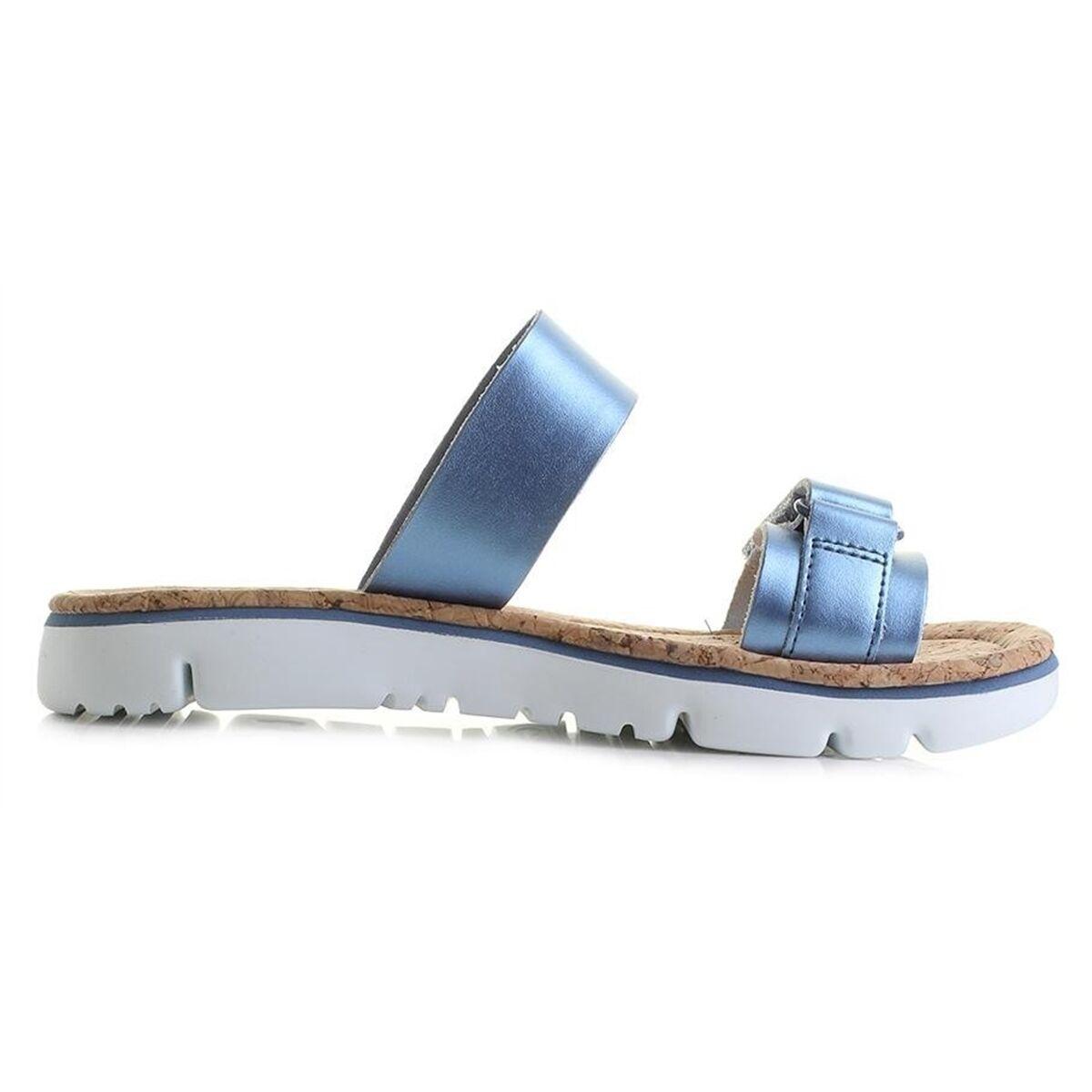 Womens Sandals Camper Oruga Black Leather Slides Slides Slides NEW 4ee239