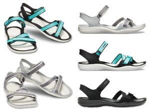 Crocs-Swiftwater-Webbing-Womens-Sandals-Ladies-Beach-Summer-Shoes
