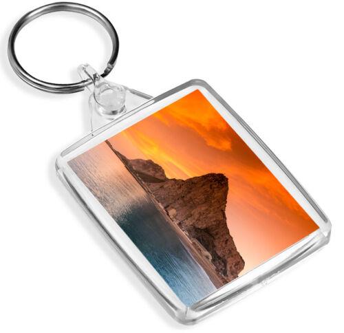 Rock Of Gibralter  Keyring Ocean Landscape Nature Cool Gift #12748 IP02