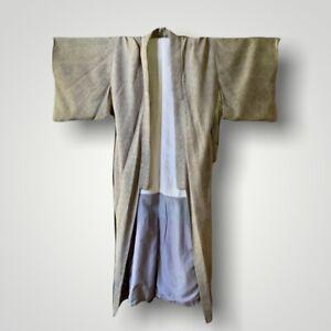 RARE Vintage Unisex Japanese Long Robe Kimono Silk