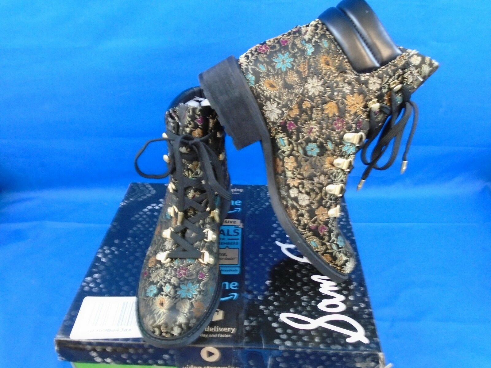 Sam Edelman F356M7003 Floral Tie Up botín Multi Color M