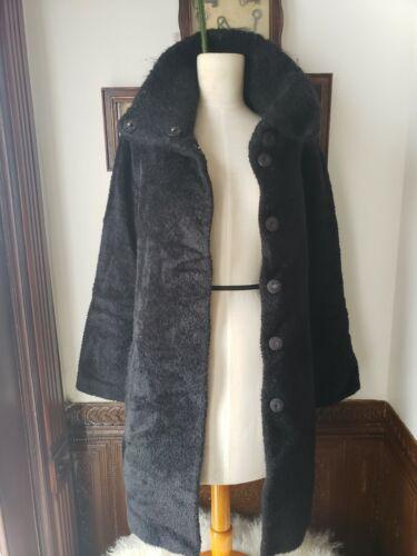 Black Teddy Bear Coat- L