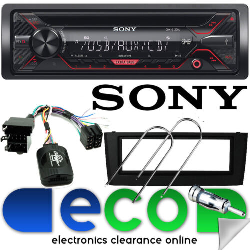 Fiat Grande Punto SONY CD MP3 USB Aux Car Stereo Steering Wheel & BLACK Fascia