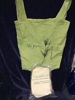 Avon Liiv Botanicals Green Tote Bag & Spa Bamboo 4 Pc Shower Set