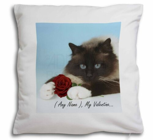 Personalised Any Name Soft Velvet Feel Cushion Cover With Inner P, VAC45RCPW