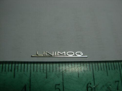 1//18 1//12 1//8 Mercedes Benz UNIMOG Typenschild nameplate badge emblem Umbau MB