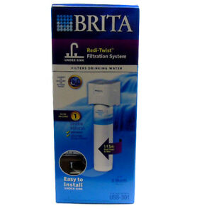 NEW BRITA REDI-TWIST WATER FILTRATION SYSTEM UNDER SINK 6 MONTH FILTER USS-301
