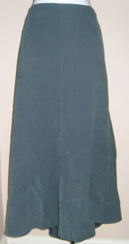 """NEW CASUAL COMFORT TEAL SUEDETTE SKIRT SIZE 14 L33/"""""""