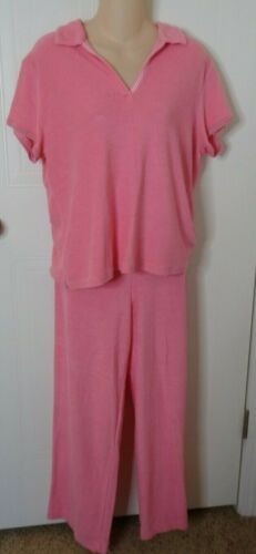 Talbot's Women's Terry Cloth Top Pants Set Medium