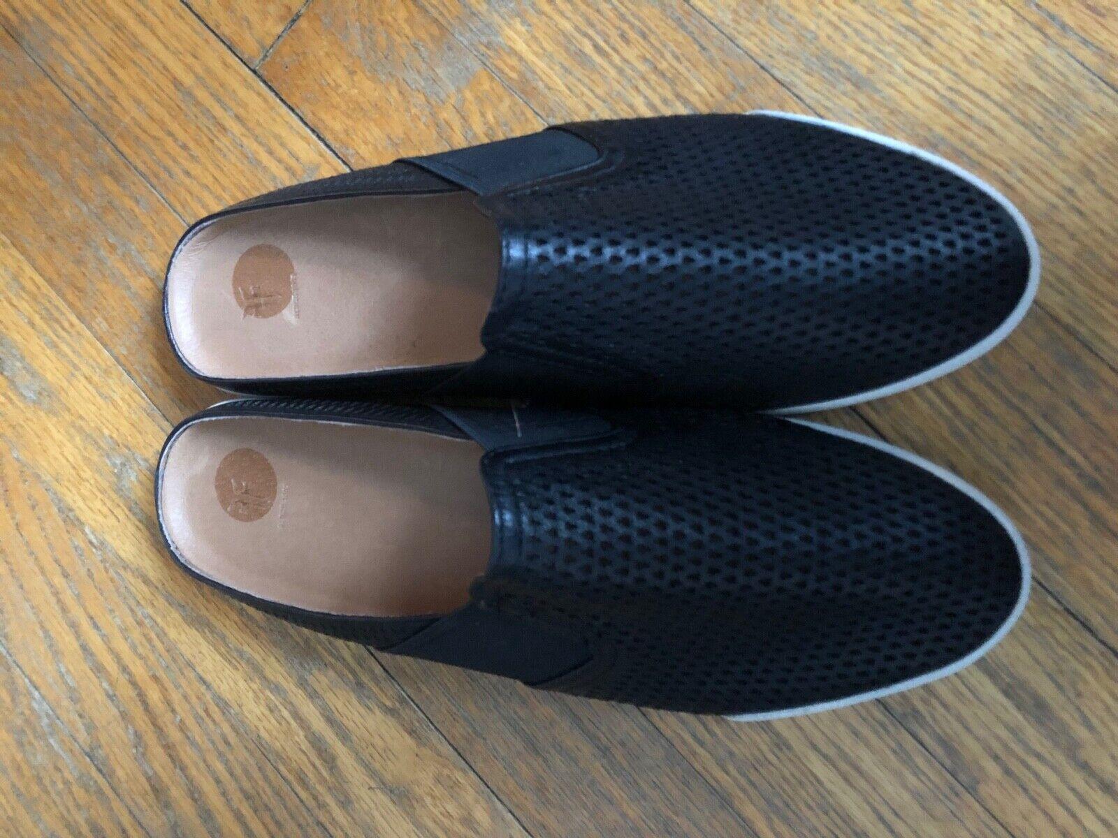 Frye 9.5 NWOB Wouomo  nero Leather Sassy Slip-on Flats  sautope