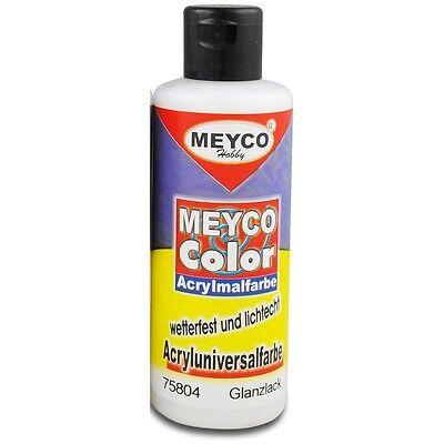 Acryl-Klarlack Acryl-Malfarbe Klarlack farblos 82ml Glanzlack Meyco 75804