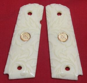 Colt-Firearms-Full-Size-1911-Carved-Ivory-Grips