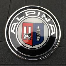 BMW ALPINA LOGO 74MM (2 7/8 IN) TRUNK LID ORNAMENT EMBLEM BADGE 2 PIN 1-6 EM104