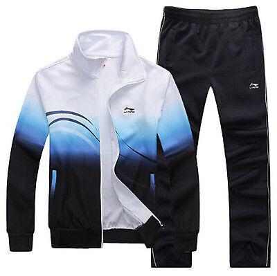 New Li-Ning Mens Activewear Sports Running Badminton Tracksuit Suit Jacket Pant