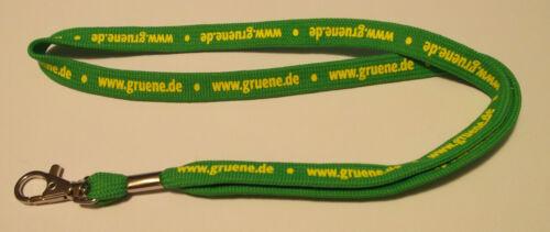 Grüne Partei Die Grünen Schlüsselband Lanyard NEU Reklame & Werbung T178