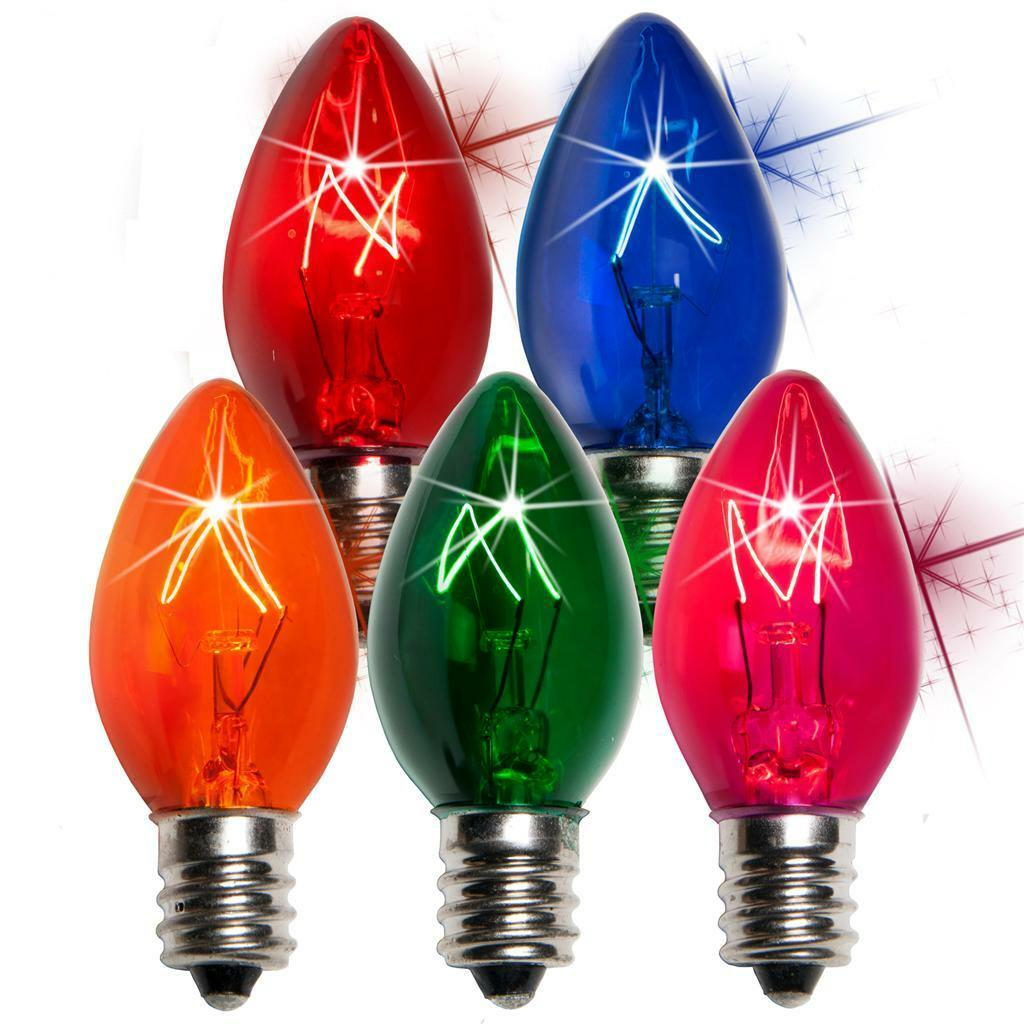 1000 Twinkle Twinkle Twinkle Christmas bulbs, 500 C9 and 500C7, Different Farbes 871865