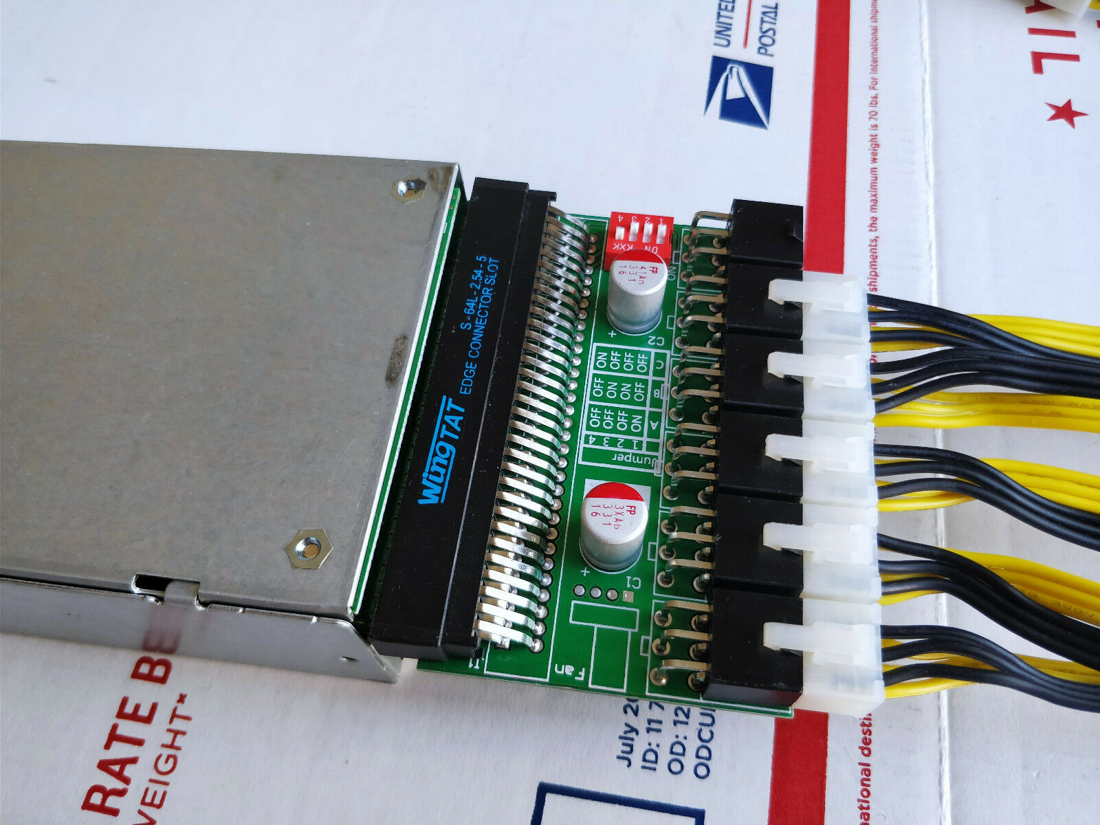 750W Power Supply PSU Customized Kit 6pin for Antminer S7//S9//D3//L3+//A741
