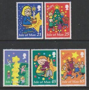 Isle-of-Man-2000-Christmas-Kirchen-set-MNH-SG-912-16