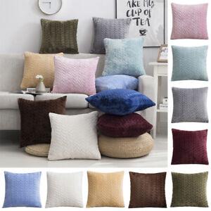 40x40cm Square Suede Back Cushion Cover Throw Pillow Case Home Car Sofa Decor