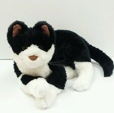 Bicolor Cat Black White Ganz Plush Toy Stuffed Animal Kitten