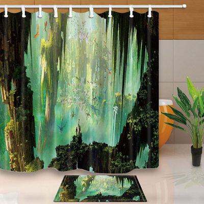 Dragon and cave Shower Curtain Bathroom Waterproof Fabric /& 12hooks 71*71inches