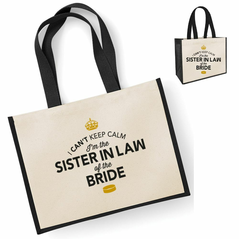 Sister In Law Of The Bride Gift Idea Wedding Party Bridal Bag Hen Party Present