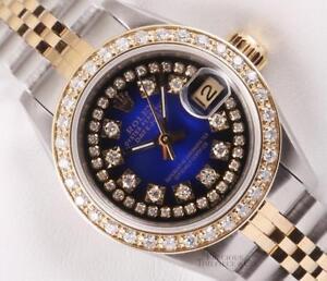Rolex-Lady-Datejust-Two-Tone-18k-Diamond-Bezel-Blue-Vignette-String-Diamond-Dial