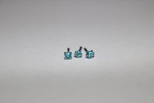 SET 3 Kristall HERZ Stern Quader ~ 2,8-3,6 mm NOSE pin LOT Rainbow Rosa Mint