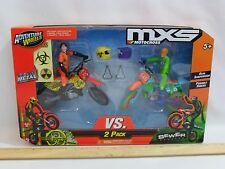 NEW! MXS MOTORCROSS ADVENTURE WHEELS VS 2 PACK BIO-WORKER SEWER MONSTER DIE CAST
