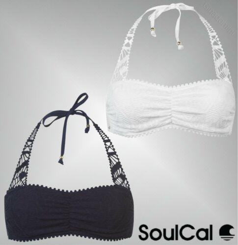Ladies Di Marca SoulCal Bandeau Tassel Crochet Elegante Maglia Top Bikini Taglia 8-16
