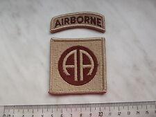 (A7-Z007) USA Abzeichen Badge 82nd Airborn Fallschirmjäger desert