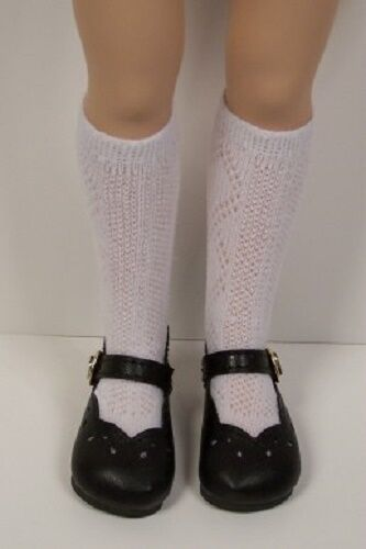 """BLACK Scallop Doll Shoes For 16/"""" Kish Spring Summer Winter Fall Debs"""