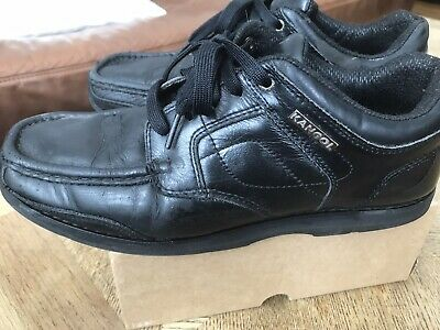 kangol black leather casual formal school shoes size 9  ebay