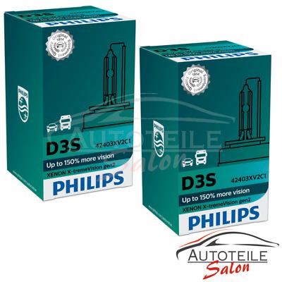2x Philips Xenon X-TremeVision D3S GEN2 bis +150% mehr Sicht Xenon-Brenner