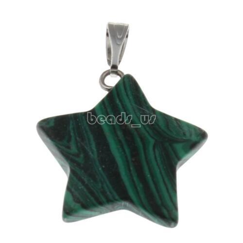 Star Cristal de Quartz Point Chakra Healing Stone Bead Gemstone Collier Pendentif CG