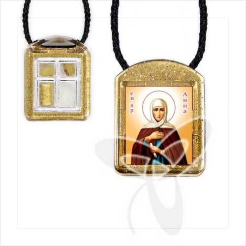 Ladanka vierteilig geweiht Anna ладанка Анна освящена