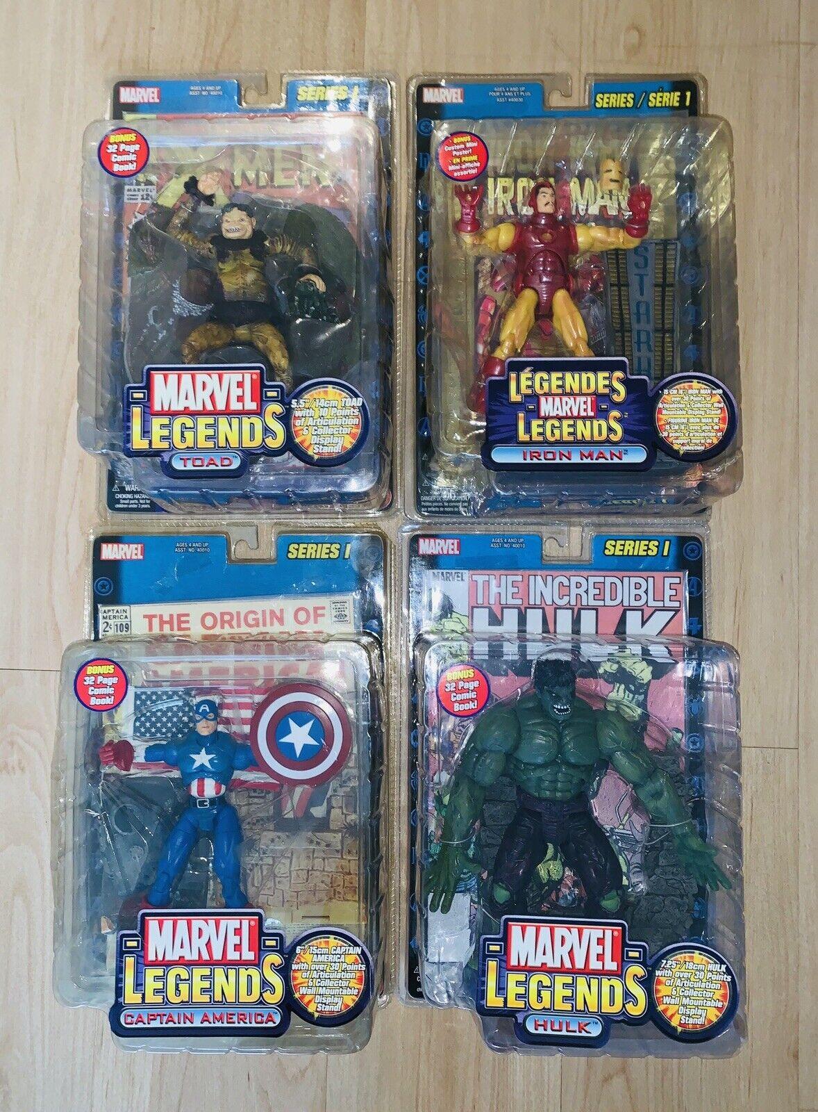 Marvel Legends Complete Set Series 1 Toad, Ironman, Hulk, Captain America Setof4