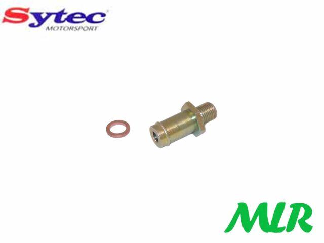 Sytec M10 x 1.0 Steel Union Pipe Adaptor 8mm Hose Walbro Fuel Pumps Etc ADV