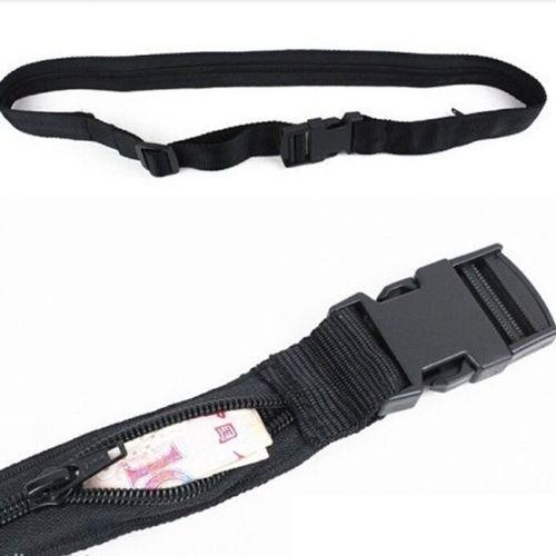 Secret Security Zip Pocket Hidden Travel Waist Money Belt Wallet Ticket Pouches