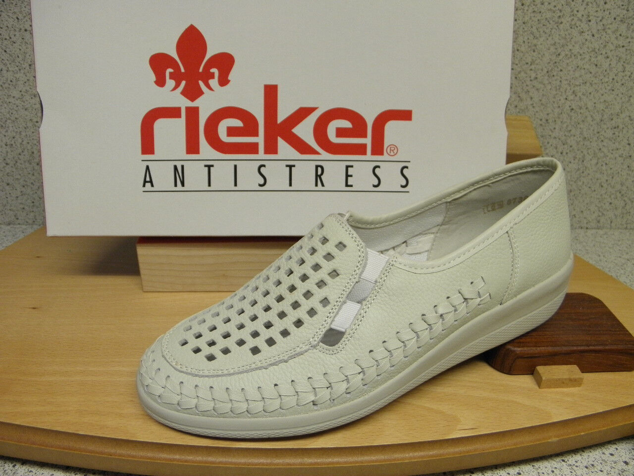 Rieker ® SALE,  weiß, NEU, Top Preis + gratis Premium - Socken (D316)