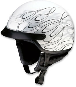 Z1R Nomad HELLFIRE Motorcycle Half Helmet Black//Red X-Large XL