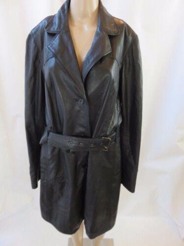 Frakke Down Leather Black Scully Button Størrelse Belted L AwHRTXq