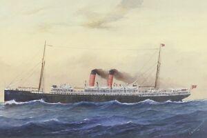 MAHENO (1) of the UNION SS Co New Zealand digital Art Postcard Modern