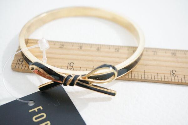 B400 Forever 21 Wedding Accessories Black Ribbon Bridesmaid Bangle Bracelet  US