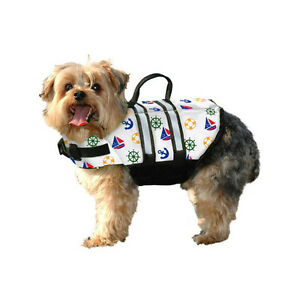 Paws-Aboard-NAUTICAL-dog-doggy-pet-life-vest-jacket-XXS-Small-Medium-Large