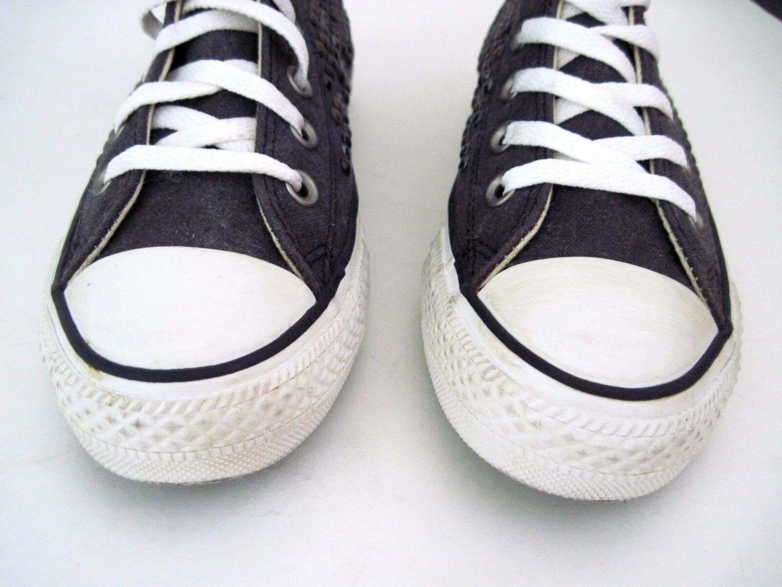 CONVERSE All Star Star Star Chuck Taylor Studded Hi Tops Black Women's Sneakers Size 6.5 521728