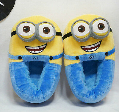 Womens Mens Cartoon Animal Minions Plush Adult Novetly Soft Slippers House Shoes